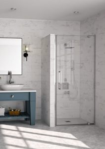 Merlyn Showering 10 Series Pivot Door in a Recess