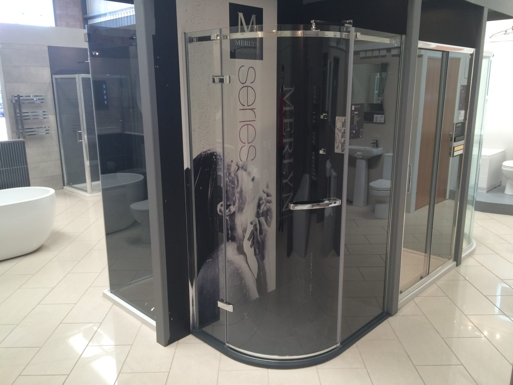 Aqua Bathrooms Direct Gloucester Merlyn Showering