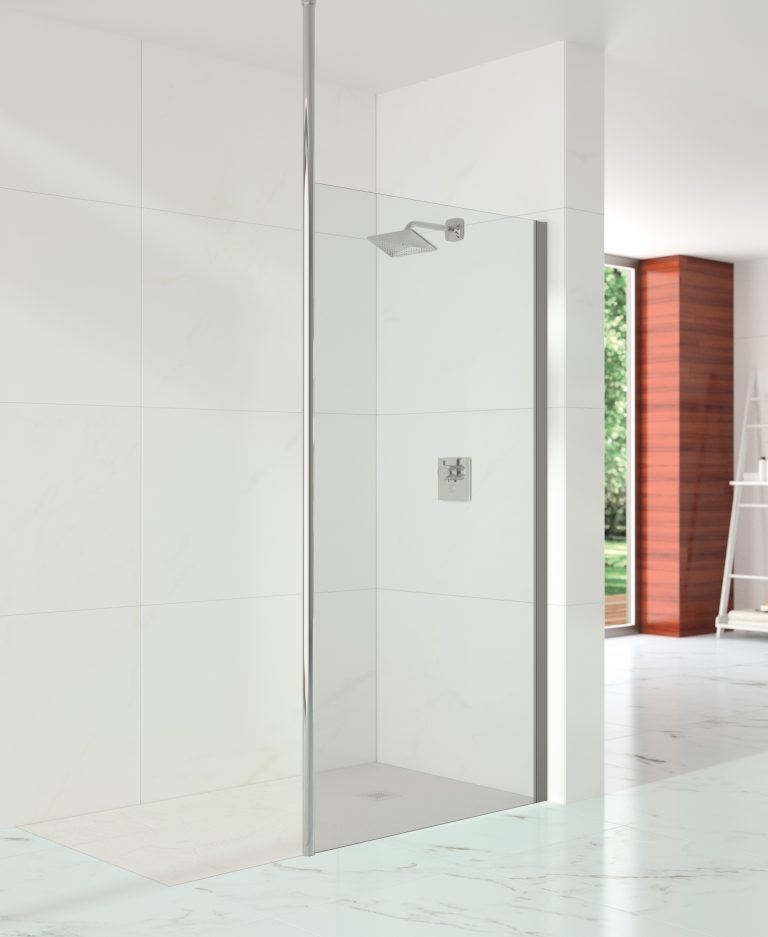 10 Series Showerwall with Vertical Post