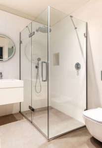 MERLYN Arysto Ten Hinge and Inline Shower Door as Featured on RTE's Room to Improve