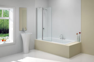Merlyn MB3b 2 Panel Folding Square Bath Screen