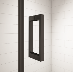 Merlyn Black Shower Enclosure Handle Close Up
